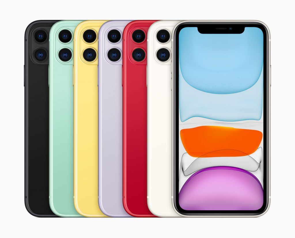 iPhone 11 different colours