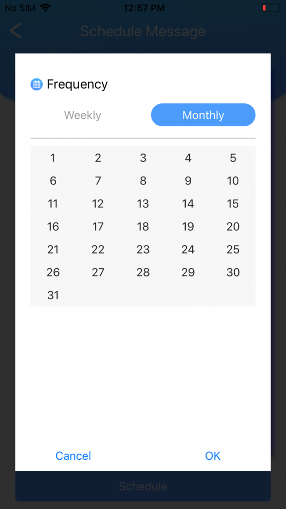 Schedule weekly, monthly, or daily messages with AutoSender